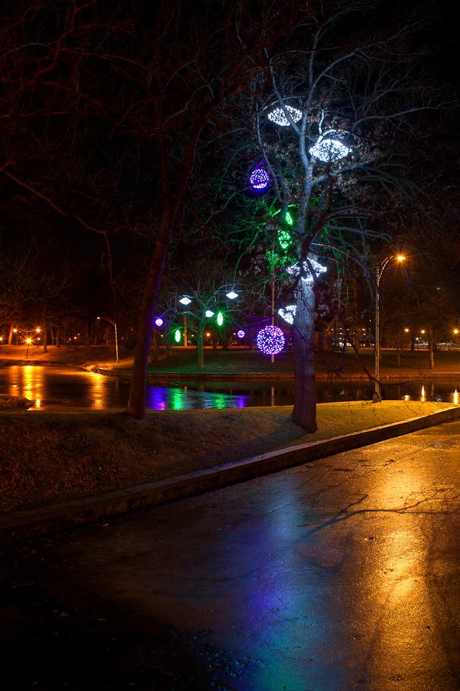 Deering Oaks lights