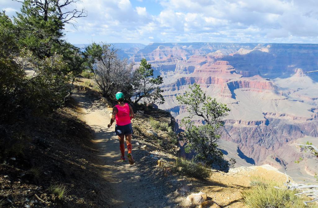 Rim trail run